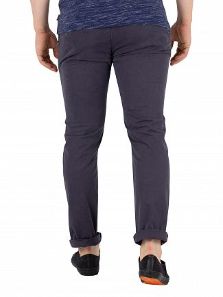 Superdry Washed Out Navy Slim Rip & Repair Chinos