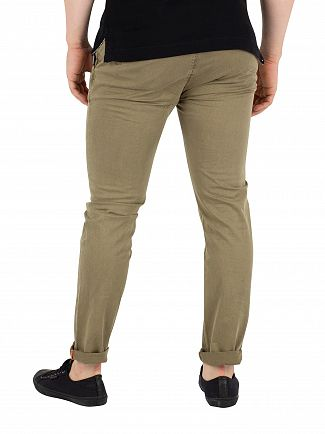 Superdry Slate Green Slim Rip & Repair Chinos