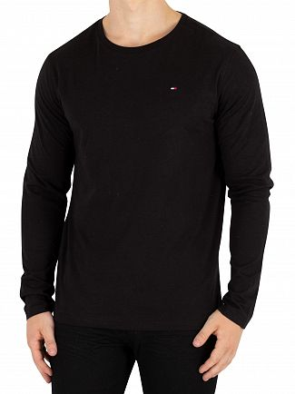 Tommy Hilfiger Black Longsleeved Icon T-Shirt
