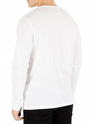 Tommy Hilfiger White Longsleeved Icon T-Shirt