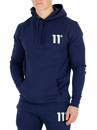 11 Degrees Navy Core Pull Over Hoodie