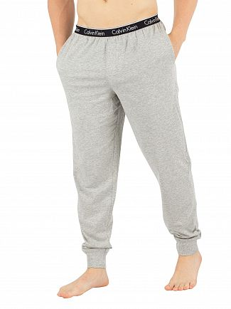 Calvin Klein Grey Heather Branded Waistband Pyjama Bottoms