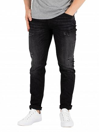 Jack & Jones Black Denim Liam Original Skinny Jeans