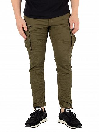 Jack & Jones Olive Night Paul Chop Cargos