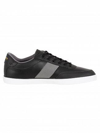 Lacoste Black/Dark Grey Court-Master 318 1 CAM Trainers