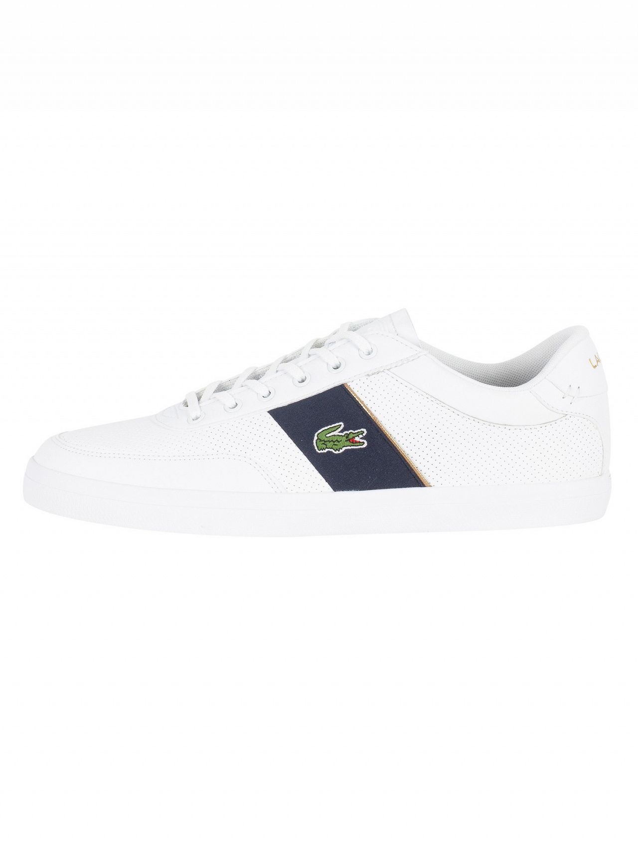 5d54371d2 Lacoste White Navy Court-Master 318 1 CAM Trainers