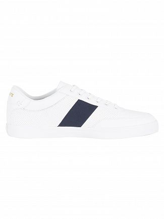 Lacoste White/Navy Court-Master 318 1 CAM Trainers