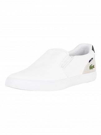 Lacoste White/Navy Jouer Slip 318 2 CAM Trainers
