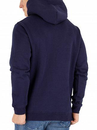 Tommy Jeans Black Iris Corp Logo Hoodie