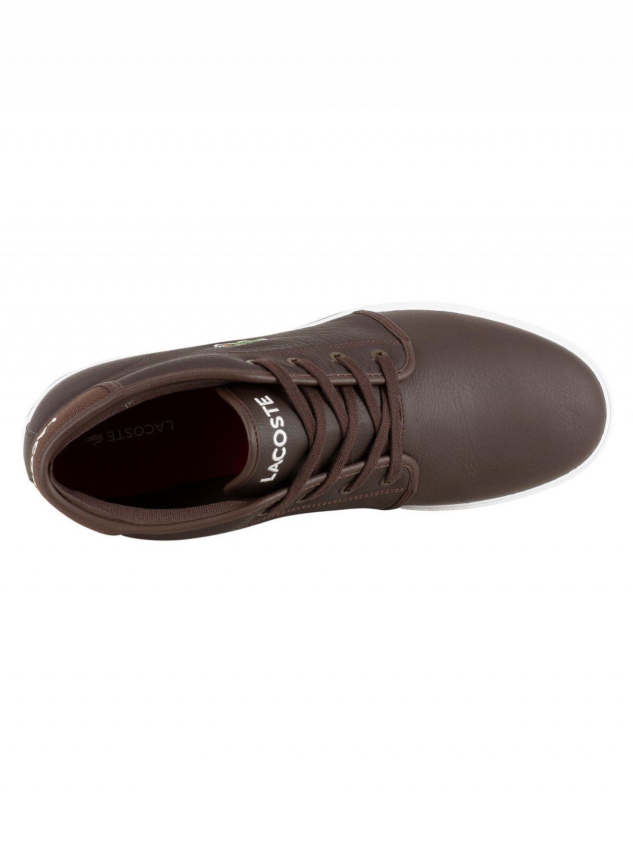 20e4b388d9413e Lacoste Dark Brown Dark Brown Ampthill LCR3 SPM Hi Trainers
