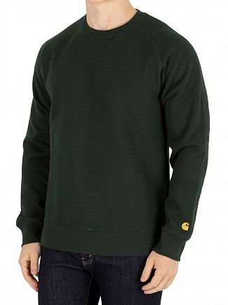 Carhartt WIP Loden/Gold Chase Sweatshirt