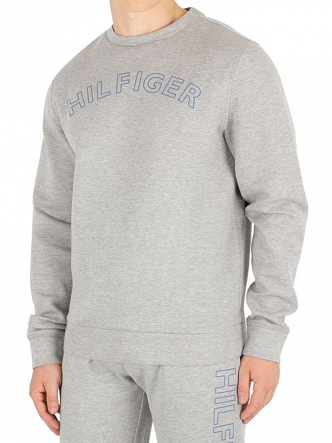 Tommy Hilfiger Herren Umriss Logo Sweatshirt, Grau   eBay efbdf16ec3