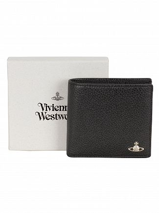 Vivienne Westwood Black Milano Coin Pocket Wallet