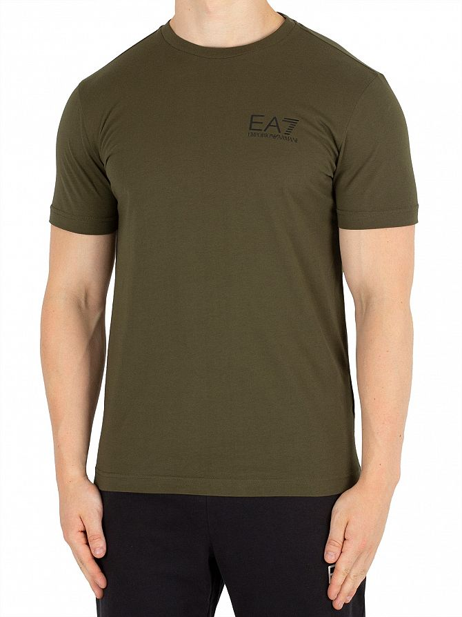 EA7 Forest Night Chest Logo T-Shirt