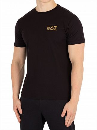 EA7 Black Chest Logo T-Shirt