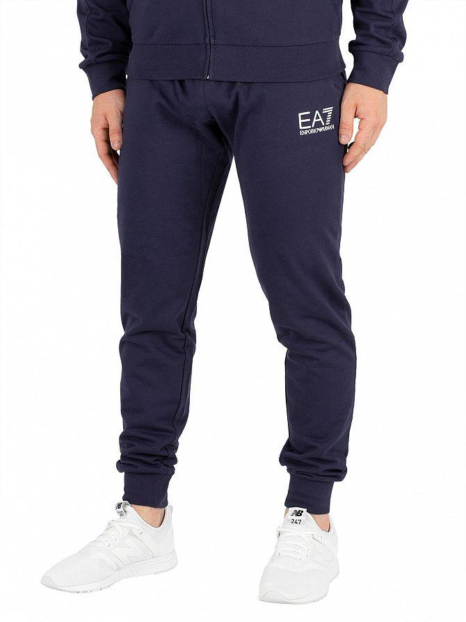 EA7 Navy Blue Logo Joggers