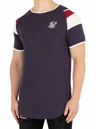 Sik Silk Navy Sprint Gym T-Shirt