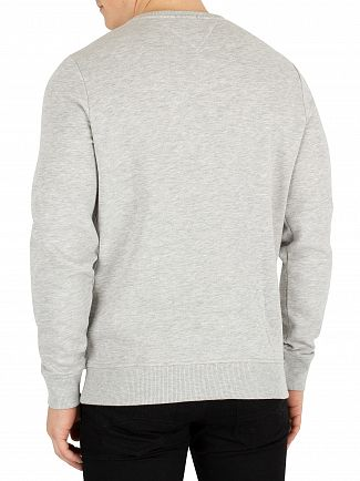 Tommy Jeans Light Grey Heather Panel Logo Sweatshirt