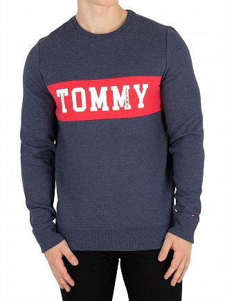 Tommy Jeans Black Iris Panel Logo Sweatshirt