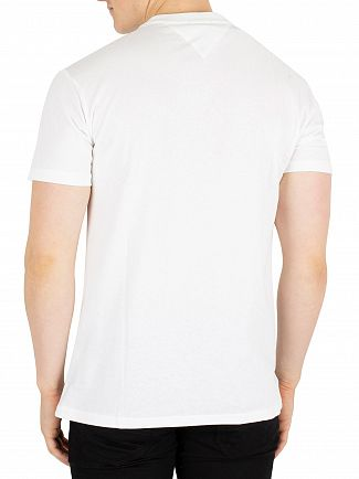 Tommy Jeans Classic White Panel Logo T-Shirt