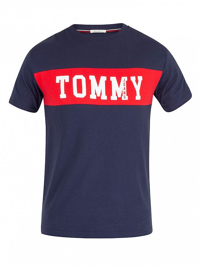 Tommy Jeans Men s Panel Logo T-Shirt 9e54f0f8145