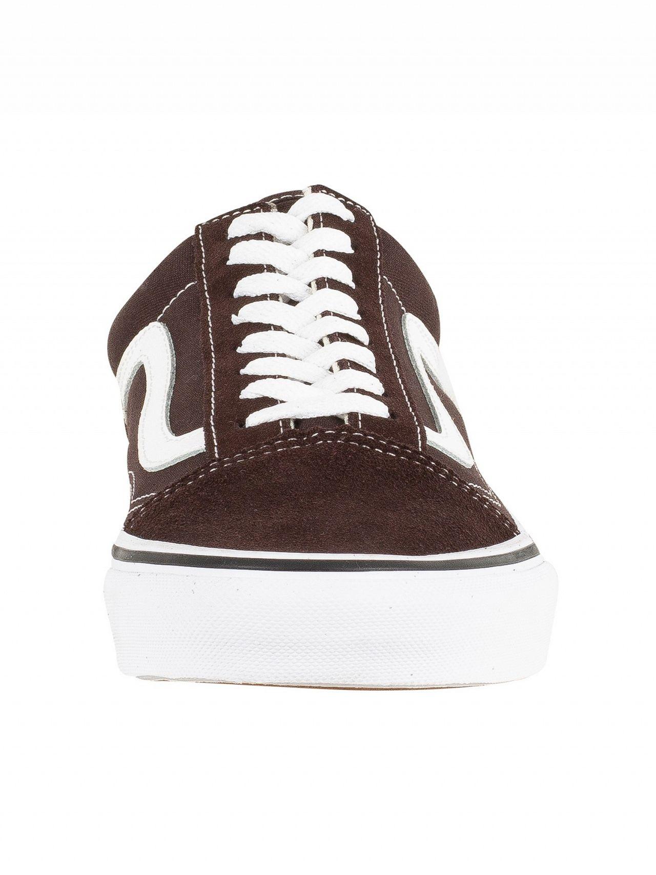 83e6fd8a10db4a Vans Chocolate Torte True White Old Skool Trainers