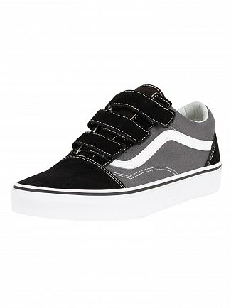 Vans Pewter/Black Old Skool V Trainers