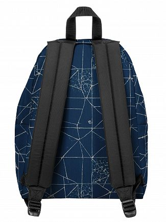 Eastpak Cracked Blue Padded Pak'R Backpack