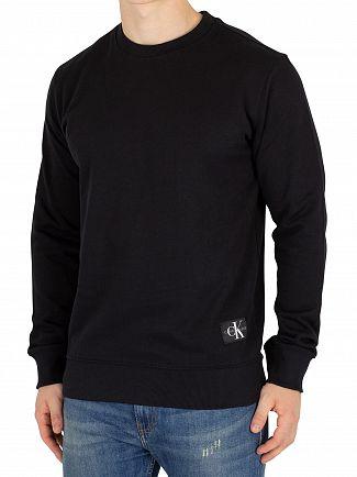 Calvin Klein Jeans Black Monogram Hem Sweatshirt