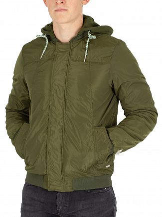 Scotch & Soda Military Green Ams Blauw Bomber Jacket