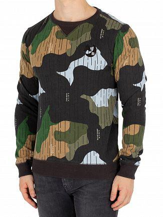 Scotch & Soda Navy Ams Blauw Sweatshirt