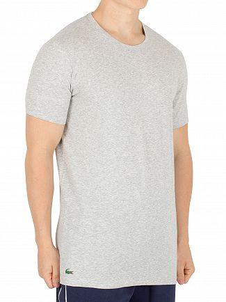 Lacoste Grey Melange 2 Pack Slim T-Shirt