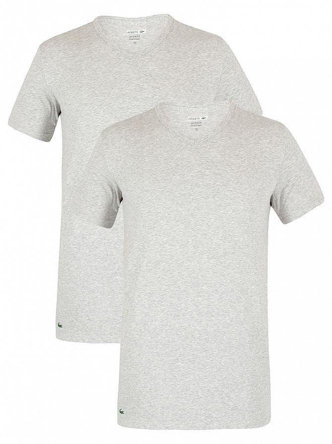 afb22744fad7 Lacoste Homme Lot de 2 t-shirts à col en V