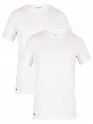 Lacoste White 2 Pack Slim T-Shirt