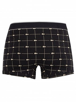 Lacoste Grey/Black/Black 3 Pack Trunks