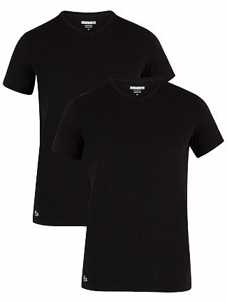 Lacoste Black 2 Pack Slim V-Neck T-Shirt
