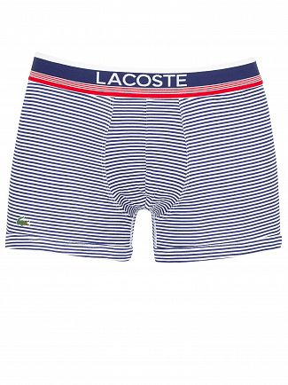 Lacoste Navy/Stripe/Navy 3 Pack Trunks