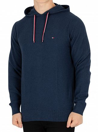 Tommy Hilfiger Mojolica Blue Heather Texture Pullover Hoodie