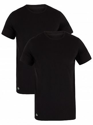 Lacoste Black 2 Pack Slim T-Shirts