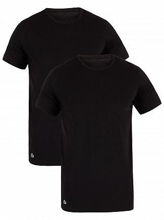Lacoste Black 2 Pack Slim T-Shirts