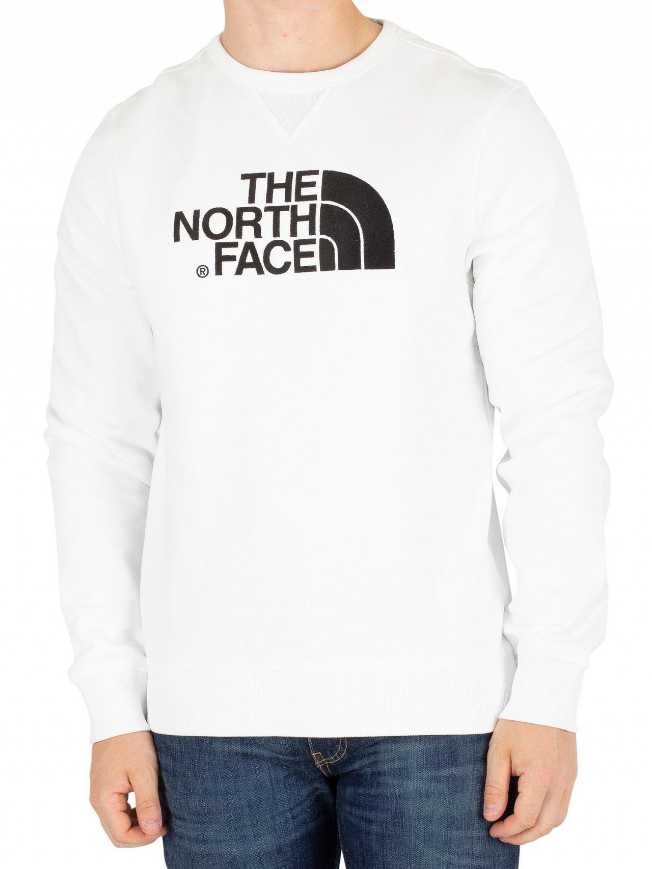 07fdbf1be The North Face White Drew Peak Sweatshirt