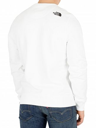 The North Face White Drew Peak Sweatshirt