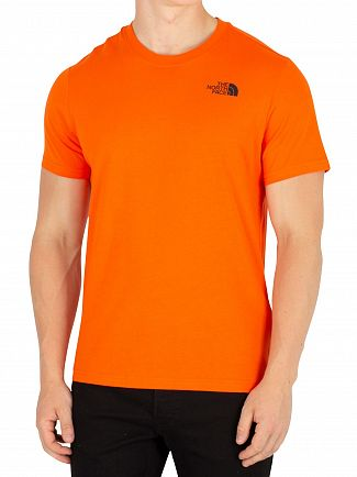 The North Face Persian Orange Red Box T-Shirt