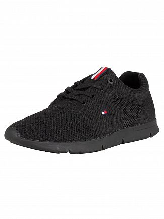 Tommy Hilfiger Black 10D Flag Trainers