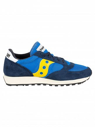 Saucony Blue/Yellow Jazz Original Vintage Trainers