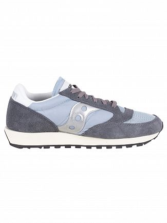 Saucony Grey/Blue/White Jazz Original Vintage Trainers