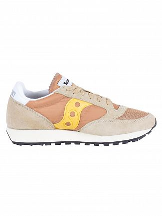 Saucony Tan/Yellow Jazz Original Vintage Trainers