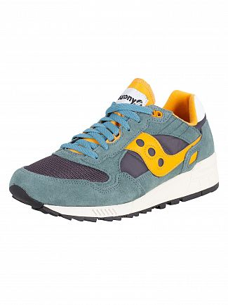 Saucony Green/Blue/Orange Shadow 5000 Vintage Trainers