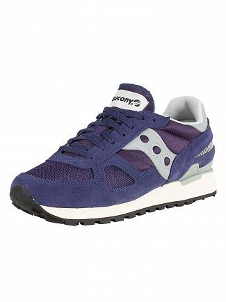 Saucony Navy/White Shadow Original Vintage Trainers