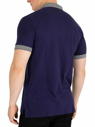 Tommy Hilfiger Maritime Blue End To End Tipped Polo Shirt